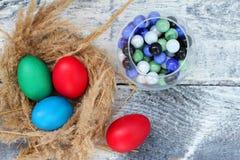 复活节宽容复活节和正统复活节 库存照片