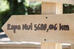 复活节岛标志-智利 免版税库存图片