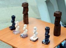 复活节岛石神象moai纪念品  免版税库存照片