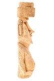 复活节岛雕象小雕象外形 免版税库存照片