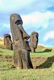 复活节岛moai 库存图片