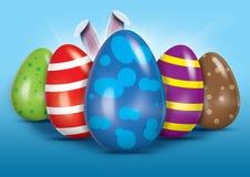 复活节彩蛋传播 免版税库存图片