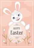 复活节彩蛋兔子 库存图片