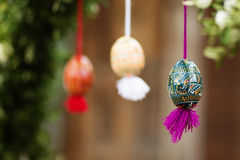复活节彩蛋和复活节 免版税库存照片