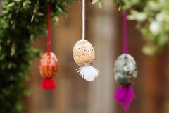 复活节彩蛋和复活节 库存照片