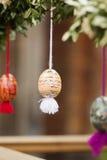 复活节彩蛋和复活节 图库摄影