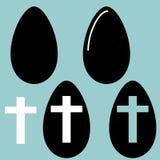 复活节彩蛋和蛋象 库存照片