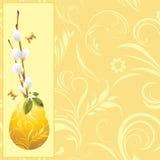 复活节彩蛋和褪色柳分行。 背景 免版税库存照片