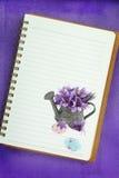 复活节笔记本页 免版税图库摄影