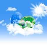 复活节彩蛋天空 库存图片