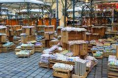 复活节彩蛋市场-维也纳 免版税库存照片
