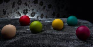复活节彩蛋庆祝,颜色,装饰,设计,小组,假日,对象,五颜六色 免版税库存图片