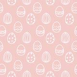复活节彩蛋无缝的传染媒介样式 图库摄影