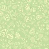 复活节彩蛋无缝的模式 花卉假日背景 免版税库存照片