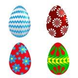 复活节彩蛋春天五颜六色的庆祝装饰假日传染媒介象 向量例证