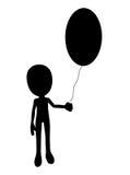 复活节彩蛋气球 免版税库存照片