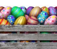 复活节彩蛋狩猎收获 免版税库存图片