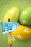 复活节彩蛋狩猎标志的综合图象 免版税库存照片