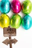 复活节彩蛋狩猎标志的综合图象 图库摄影