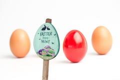 复活节彩蛋狩猎标志的综合图象 库存照片