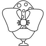复活节彩蛋的传染媒介例证 库存照片