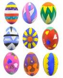 复活节彩蛋的汇集 库存图片
