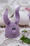 复活节彩蛋的逗人喜爱的兔宝宝 免版税库存照片