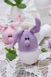 复活节彩蛋的逗人喜爱的兔宝宝 免版税库存图片