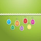复活节彩蛋背景 库存图片