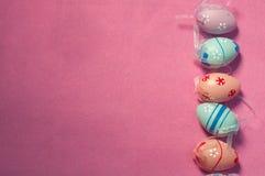 复活节彩蛋背景 免版税库存图片