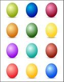 复活节彩蛋色谱背景 免版税库存图片