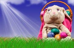 复活节彩蛋草绿色 欢乐的装饰 库存图片