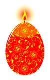 复活节彩蛋蜡烛 库存照片