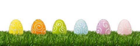 复活节彩蛋行 图库摄影
