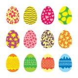 复活节彩蛋被设置的传染媒介象 图库摄影