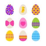 复活节彩蛋被隔绝在白色 免版税库存照片