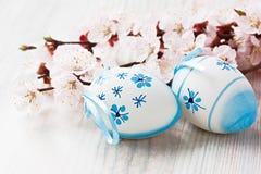 复活节彩蛋装饰 库存图片