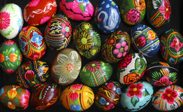 复活节彩蛋许多 免版税库存图片