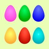 复活节彩蛋设置了 免版税库存照片