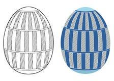 复活节彩蛋设计 免版税库存图片