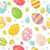 复活节彩蛋逗人喜爱的无缝的样式,不尽的背景 五颜六色的背景,纹理,数字式纸 也corel凹道例证向量 免版税图库摄影