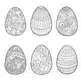 复活节彩蛋集合 库存图片