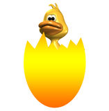 复活节彩蛋鸭子孵化 免版税库存照片