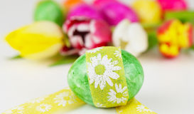 复活节彩蛋,复活节礼物 免版税库存照片