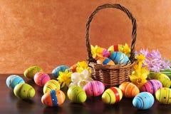 复活节彩蛋绘了 库存照片
