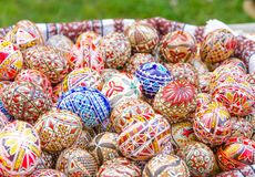 复活节彩蛋绘了 免版税库存照片