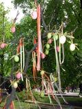 复活节彩蛋结构树 免版税库存照片
