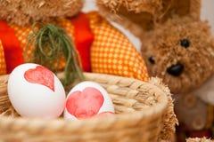 复活节彩蛋洗染 库存照片