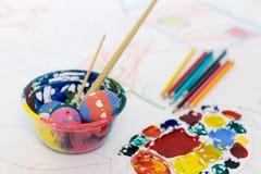 复活节彩蛋绘画 库存图片