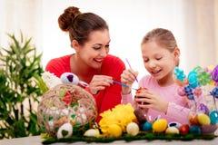 绘画复活节彩蛋 库存照片